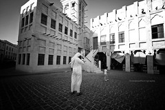 We are the ever-living ghost of what once was (Orangeya) Tags: street bw monochrome photography angle wide lolo souq doha qatar wagif saleh soug noura do7a qtr waqif 0rangeya
