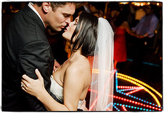 Life of the Party (Ryan Brenizer) Tags: wedding love lights groom bride dance nikon kiss flash may 2008 d3 sb800 weddingphotojournalism strobist 2470mmf28g