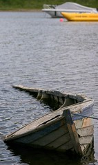 Old and new boats! (The Merry Monk) Tags: lake water boats mayo ripples sunk oldjetty oldboat knockmore
