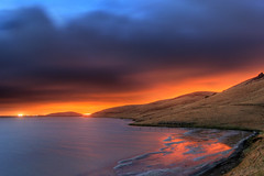 Out Of Africa II (flopper) Tags: california sky reflection water clouds hills coyotehills citylight fremontca flopper karmapotd karmapotw