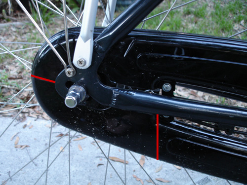 removable chainguard section