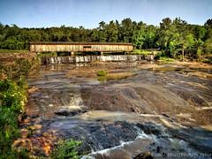 Watson Mill Bridge (PCA30) (evanleavitt) Tags: park bridge texture mill georgia waterfall state olympus rapids covered watson hdr e510 photomatix pca30