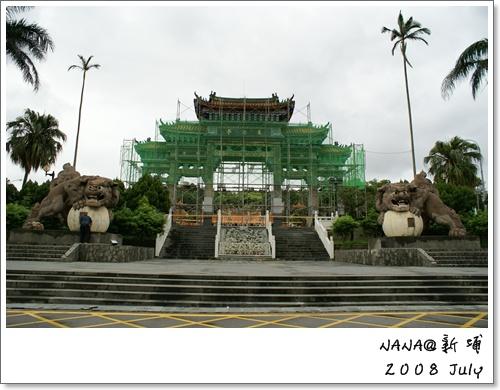 義民廟牌坊修建中