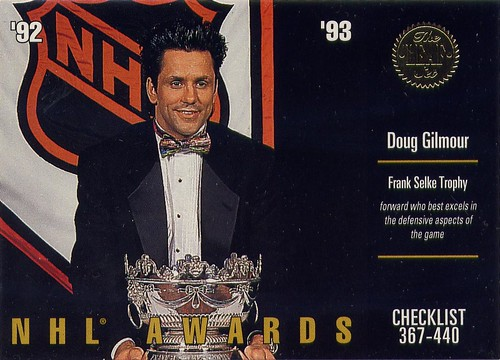 Doug Gilmour, Toronto Maple Leafs, NHL awards, 93-94 Leaf, Selke Trophy, cocaine