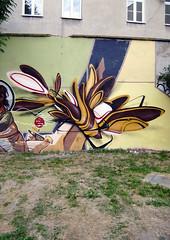 My piece (mrzero) Tags: brown streetart art colors lines wall effects graffiti 3d mural paint letters poland meeting spray styles colored graff lublin cfs mrzero