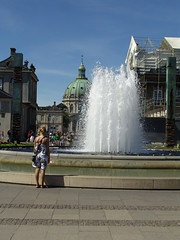 Fountain (osto) Tags: people woman water fountain copenhagen geotagged denmark europa europe sony cybershot zealand tina scandinavia danmark kbenhavn amaliehaven dscf828 sjlland  osto july2008 osto