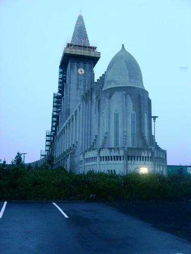 die berühmte Kirche von Reykjavik