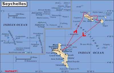Praslin Island Seychelles World Map Timekeeperwatches - Map of seychelles world