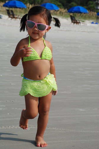 Sashaying onto the beach