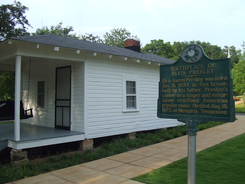 Birthplace of Elvis Presley in Tupelo, MS