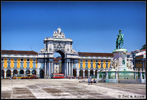 Lisboa (Portugal). Praça do Comercio. by josemazcona.