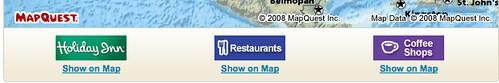 Ads on map