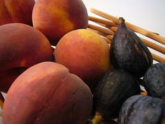 Summer Goodness in Peaches and Figs (SusieWyshak) Tags: fruit peach figs