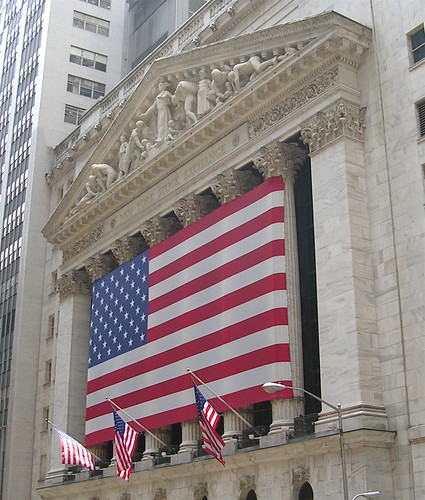 Flag at New York Stock Exchange