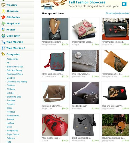 I'm on the etsy front page!