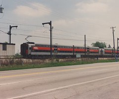 Central Electric Railfan Association May 1990 fantrip charter over the former Illinois Central electric powered commuter lines. University Park Illinois.