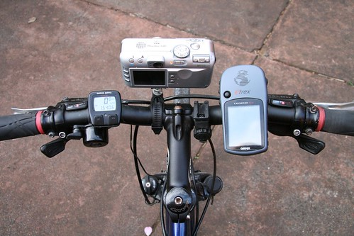 Simple camera mount in use