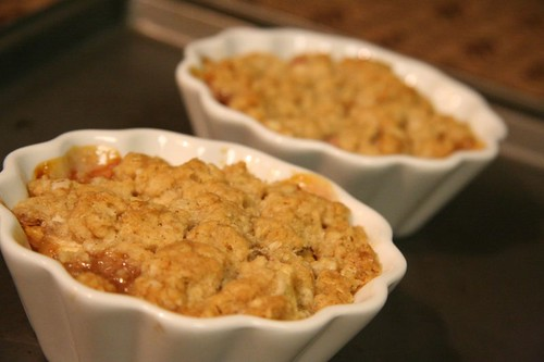 Fruit Crisp: just out of the oven