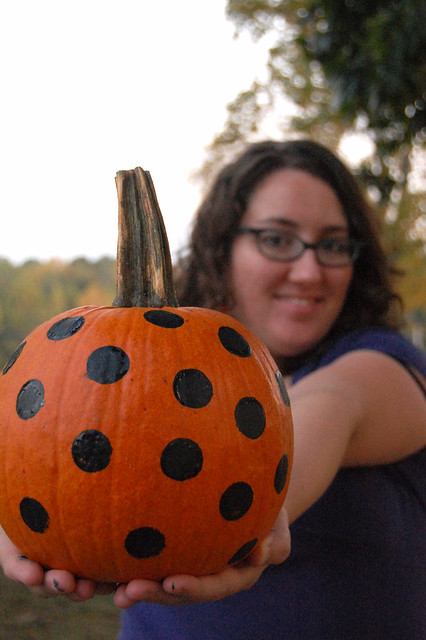 me and polka dot pumpkin