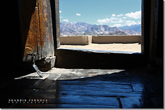 Heaven's Door (Shabbir Ferdous) Tags: door blue light india reflection photographer ladakh thikseymonastery bangladeshi canoneos5d oldlibrary shabbirferdous ef2470mm28lusm wwwshabbirferdouscom shabbirferdouscom