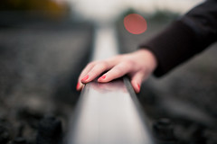 Unnamed... (Geshpanets) Tags: 50mm hand bokeh railway 5d cinematic lightroom photostory 5014