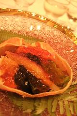 kani, wakame, cucumber sunomono^very nice version