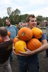Josh with Pumpkins