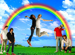Breathe Carolina (XxBrookelynnBlissxX) Tags: david kyle jumping rainbow emoboys breathecarolina