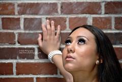 lifted eyes (simis) Tags: portrait woman brick k wall closeup model eyes dof hand photoshoot bokeh bracelet rok fromarchives hbw