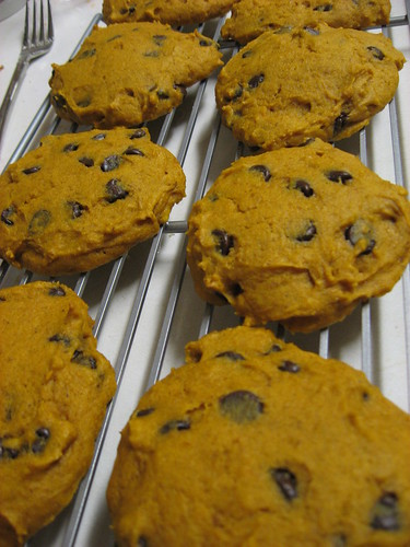 Pumpkin Cookies, fresh out of the oven