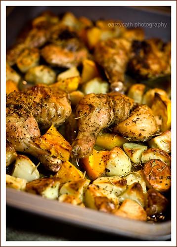 tonite's roast chicken dinner