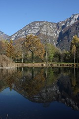 Autumn reflections (- Doppiadi -) Tags: blue autumn panorama alps nature canon landscape eos colours wildlife alpine autunno colori montagna 450d canoniani absolutelystunningscapes