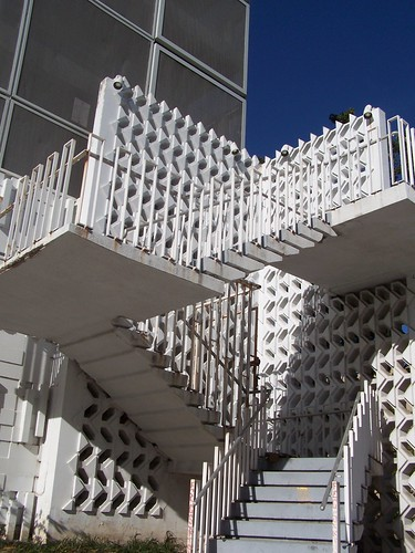 Concrete Block Wall And Stairs