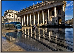 Back To Bordeaux (Nathan Bergeron Photography) Tags: france architecture reflections geotagged hall interestingness europe theatre columns bordeaux tram unesco grandtheatre explored worldheritagecity yearinfrance geo:lat=44842428 geo:lon=0573982