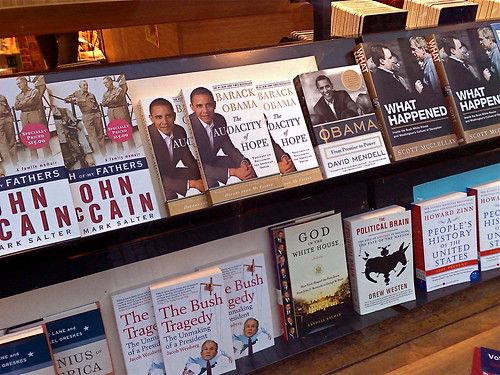 At the US bookshop, pretty well known in town.