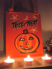 trick or treat (MookieLuv) Tags: halloween candles trickortreat treat trick 2008 candlelit candybag