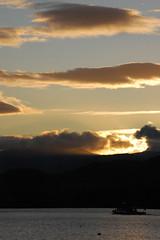 Dusk sky over Ullswater
