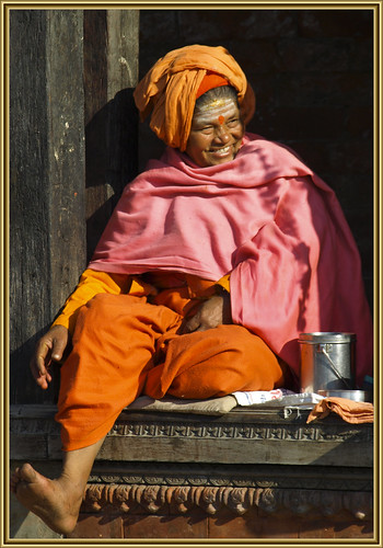 the smiling sadhvi