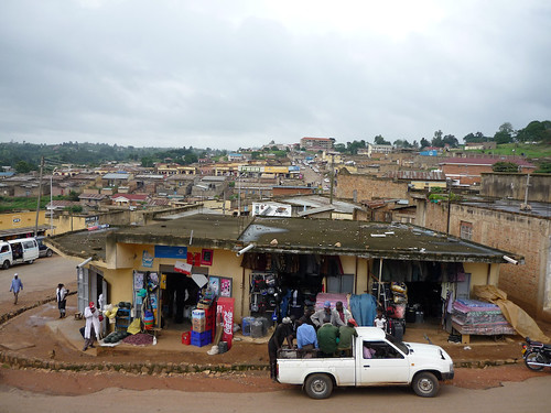 Rukungiri: a typical Ugandan town scene