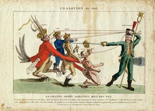 Coalition de 1806 - La Grande Armee Agrandit Bien des Nez (JJ Rousseau - pub., 1809)