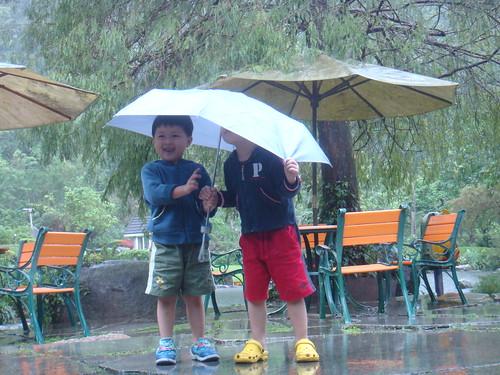 你拍攝的 三富花園農場:下雨這樣好玩。