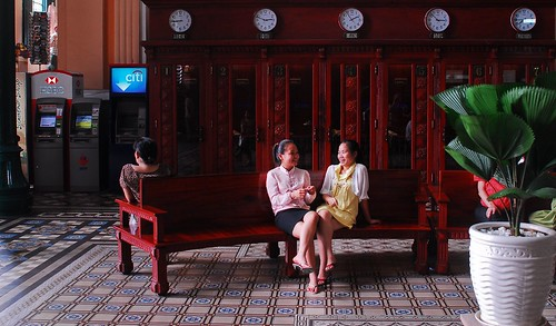 Two Girls, Central Post office, HCMC