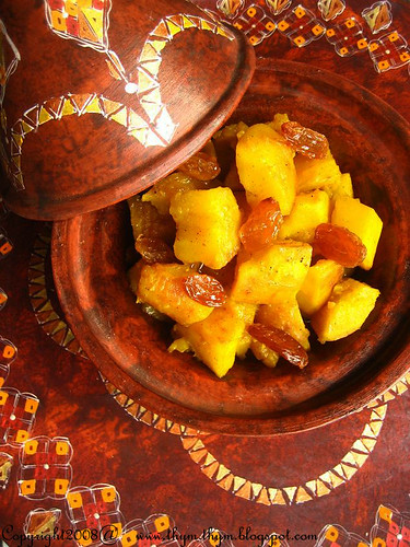 Sweet potatoes tagine