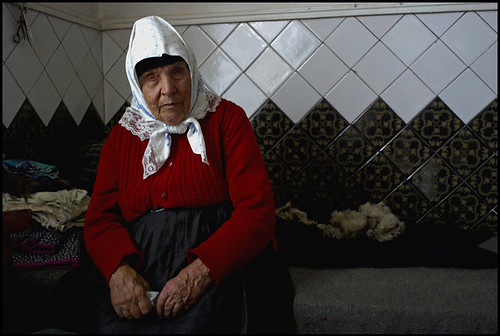 Doukhobor woman in her house, Gorelovka, Georgia