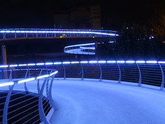 Brug_20081119_0029 (dirk_Rampie) Tags: bridge blue architecture night nachtopname s100fs