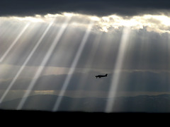 Uros Petrovic - Airplane Under Sun Rays (Uros Petrovic) Tags: uros petrovic serbia srbija sky sunshines sunshine shine shines airplane plane worldthroughmyeyes light lights rays mywinners