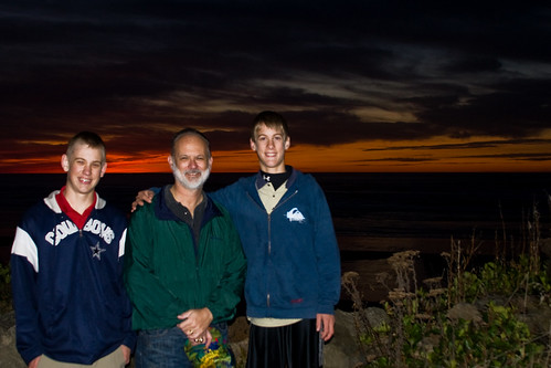 Jacob, David, and Matthew near Agate Beach