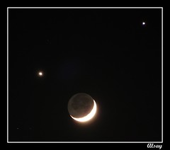 Congregation (alsay) Tags: world moon night december venus nightshot crescent event saudi planets jupiter saudiarabia global madinah congragation conjunction