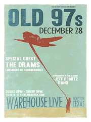 Old 97s - Warehouse Live December 28 2008 (deneyterrio) Tags: texas houston posters old97s rhettmiller riseup warehouselive riseupagency slgt houstonposterdesigner