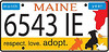 Proposed new Maine license plate